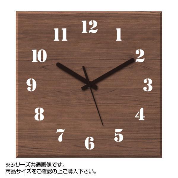 MYCLO(マイクロ) 壁掛け時計 ウッド素材(ウォールナット) 四角 30cm 木製時計 com445