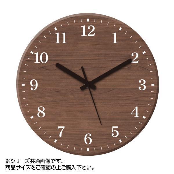 MYCLO(マイクロ) 壁掛け時計 ウッド素材(ウォールナット) 丸型 30cm 木製時計 com446