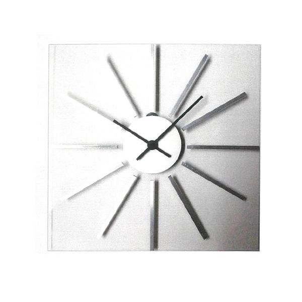 アルミグラスの時計 シルバー V-1