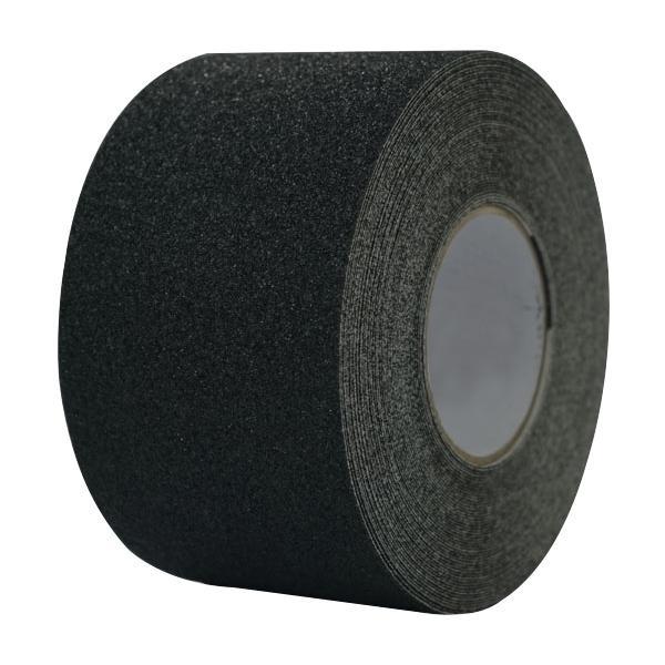 滑りやすい場所に最適。 滑り止めテープ 黒 100mmx18m 14202