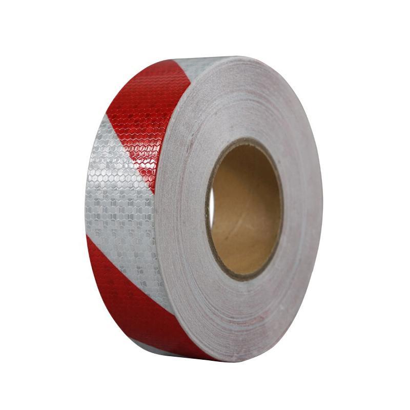 高輝度反射テープ 赤/白 50mm x 50m 14359