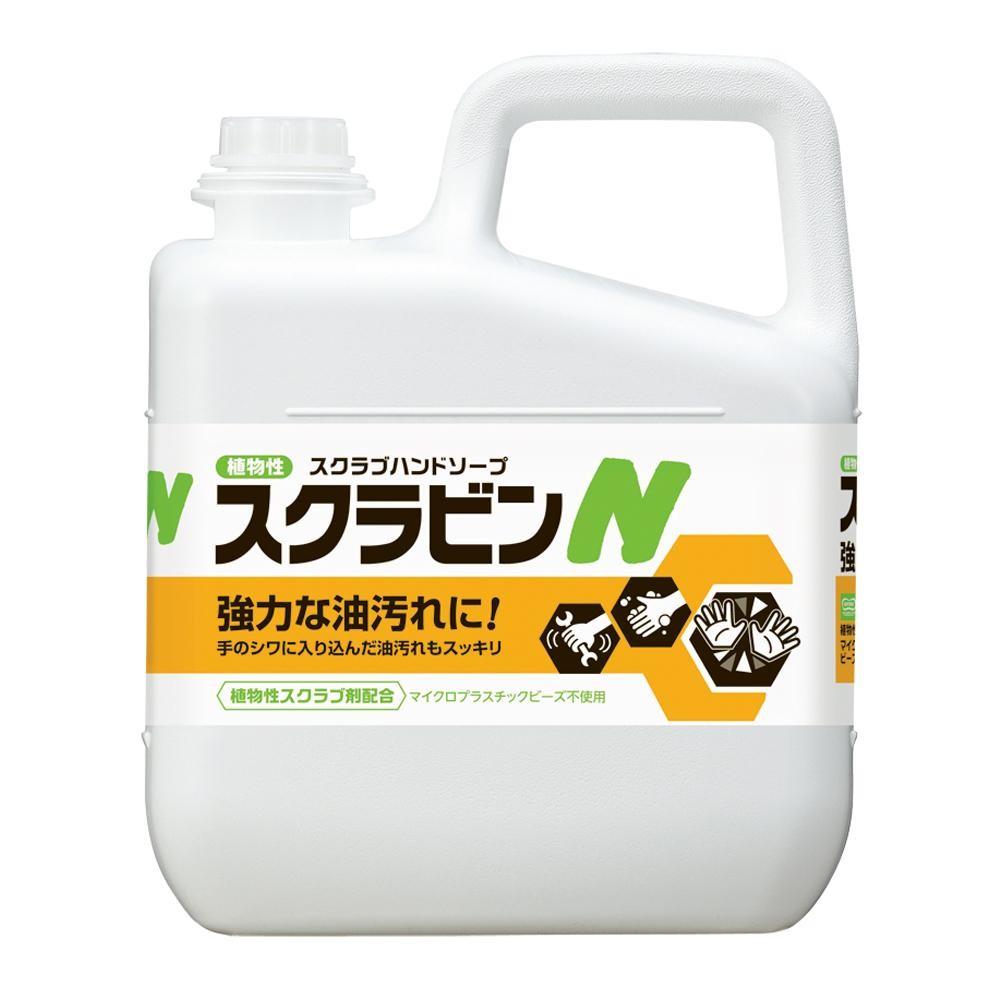 サラヤ 植物性スクラブハンドソープ スクラビンN 5kg 23155【代引・同梱・ラッピング不可】