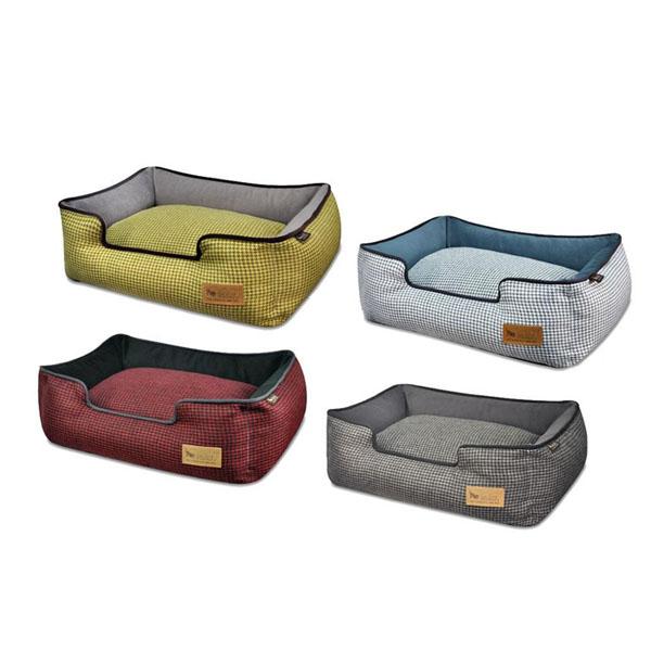 ラグジュアリーベッド「P.L.A.Y」 ペット用ベッド ラウンジベッド(BOX型) Sサイズ ハウンドトゥース
