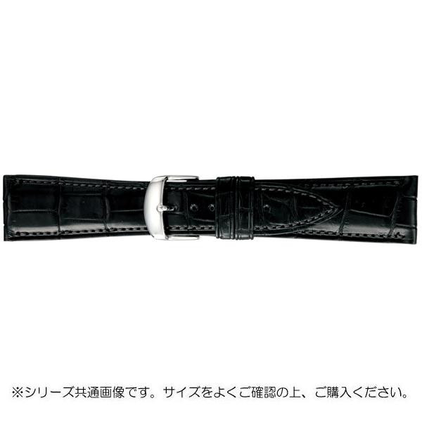 BAMBI バンビ 時計バンド グレーシャス ワニ革 黒(美錠:白) BWA030AW