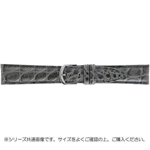 BAMBI バンビ 時計バンド グレーシャス ワニ革 グレー(美錠:白) BWA021GR