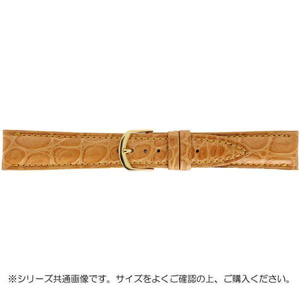 BAMBI バンビ 時計バンド グレーシャス ワニ革 オレ茶(美錠:金) BWA021LP