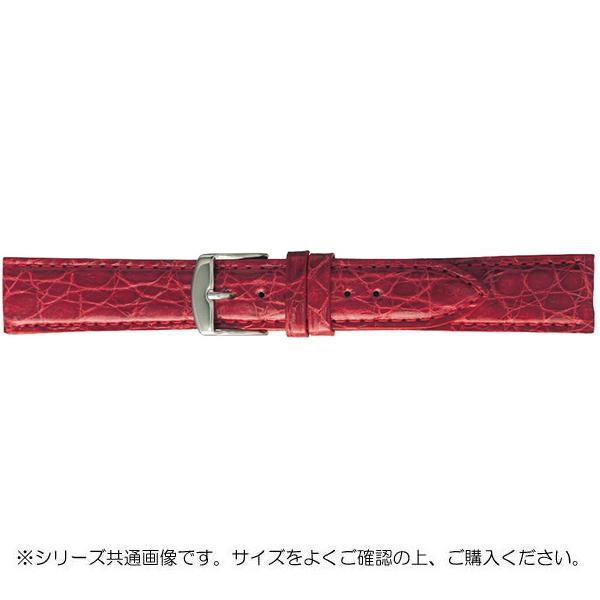 BAMBI バンビ 時計バンド エルセ ワニ革 レッド(美錠:白) SWA007RS