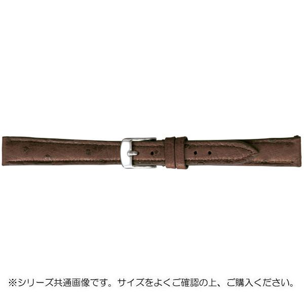 BAMBI バンビ 時計バンド エルセ オーストリッチ革 チョコ(美錠:白) SDA005BI