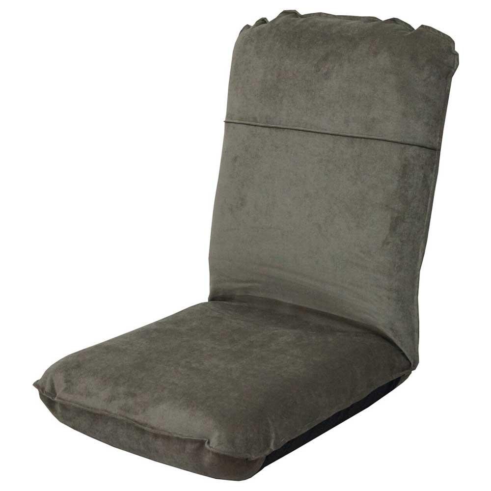 ハイバックボリューム座椅子 二つ折り グレー送料込!【代引・同梱・ラッピング不可】