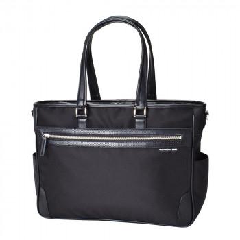 <title>強度のある生地を使用したビジネスバッグ 日本全国 送料無料 TRD 鎧布 横型トートバッグ ブラック 8435</title>
