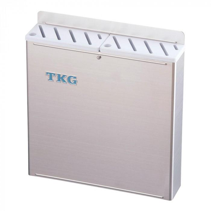 TKG 18-8プラ板付 カラーナイフラック 大 Aタイプ AHU-69 白 7-0361-0101