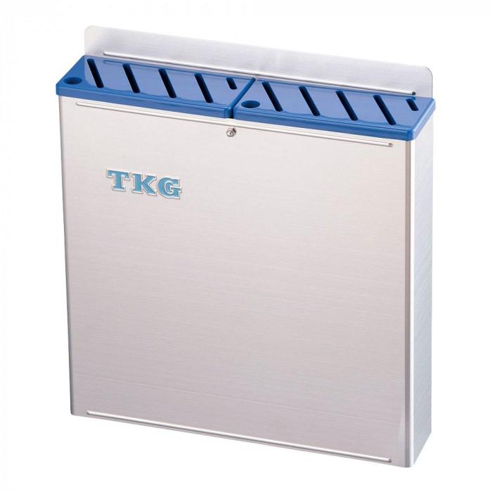 TKG 18-8プラ板付 カラーナイフラック 大 Aタイプ AHU-69 青 7-0361-0105