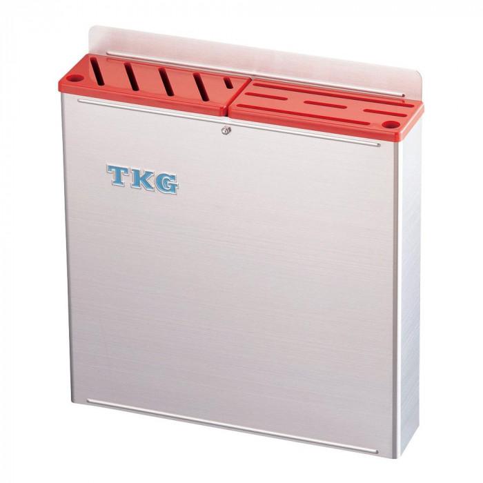 TKG 18-8プラ板付 カラーナイフラック 大 ABタイプ AHU-67 赤 7-0361-0302