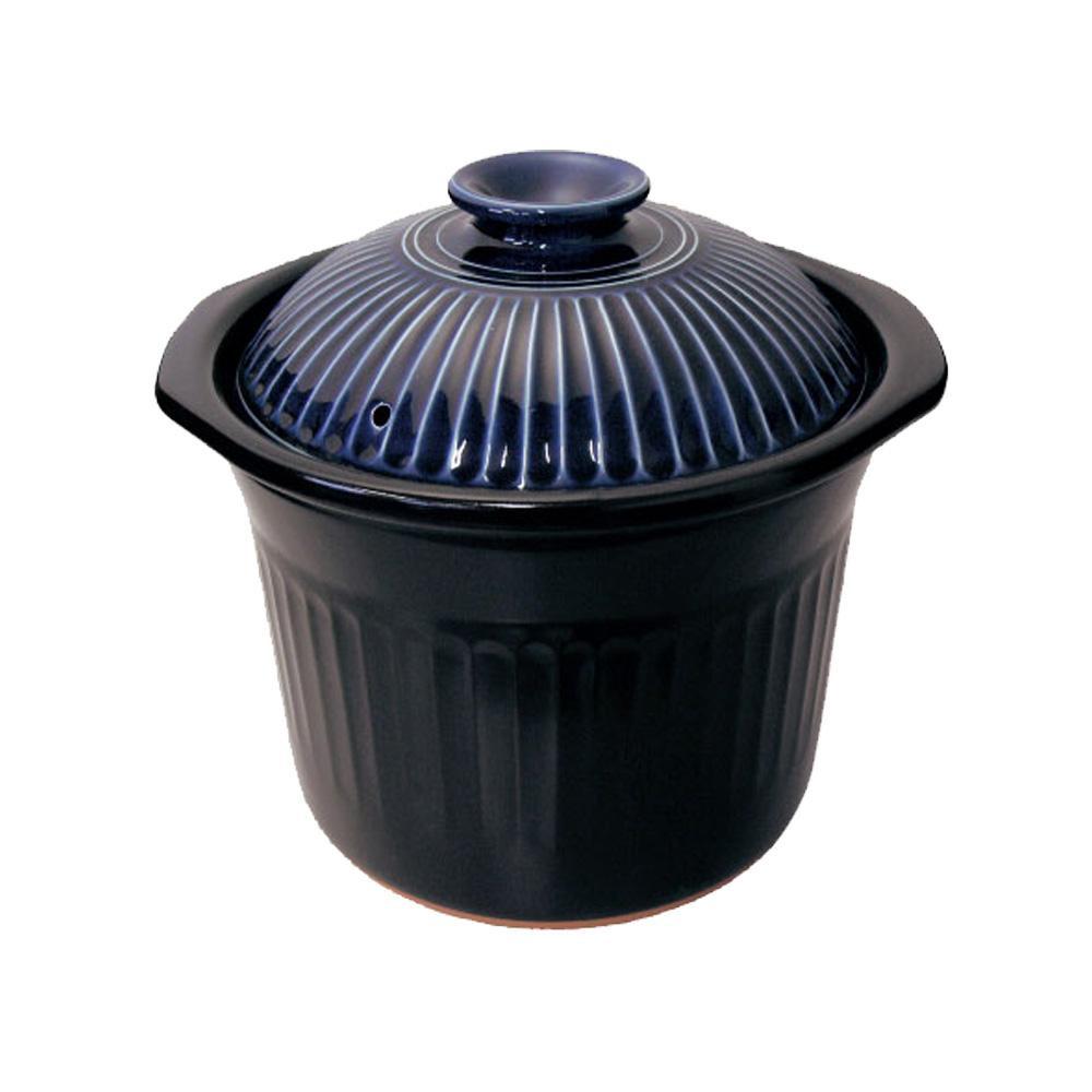 日本製 スープ鍋 菊花瑠璃釉 2080-4235