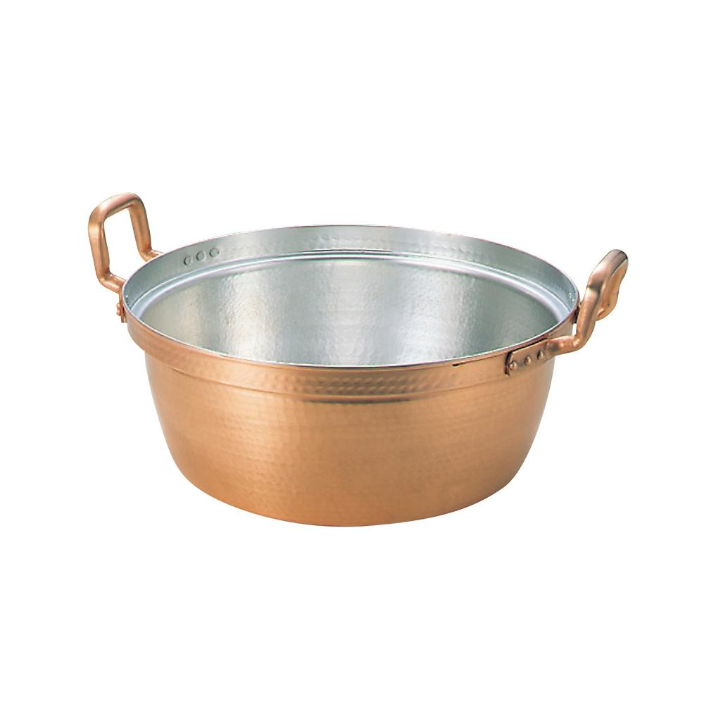 EBM 銅 段付鍋 錫引きあり 30cm 20500