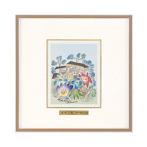 高岡銅器 彫金パネル 池田満寿夫作 花咲く街 142-07