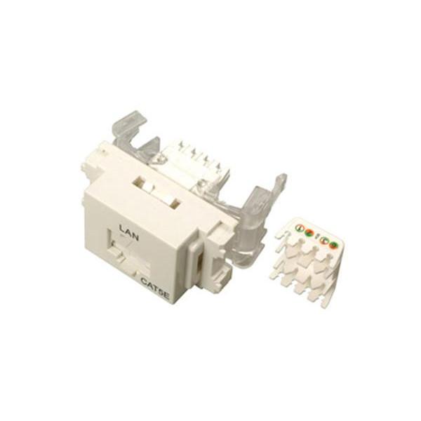 サン電子 LANモジュラジャック ツールレスタイプ Cat.5e ホワイト LMJ-5ETLW 10個入
