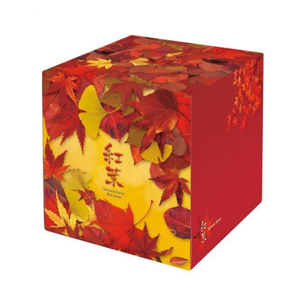 秋の販促品 紅葉ティッシュ BOXティッシュ 50個入 7167【代引・同梱・ラッピング不可】