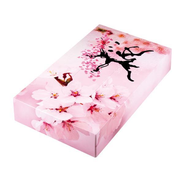 冬から春の販促品 桜 BOXティッシュ 100個入 7094【代引・同梱・ラッピング不可】