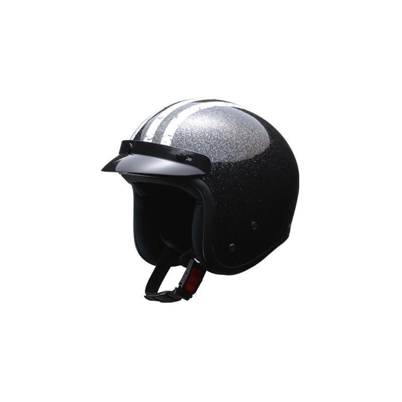リード工業 LEAD FLAKER スモールジェットヘルメット ブラック フリーサイズ