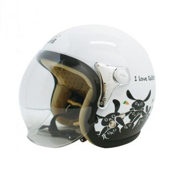 ダムトラックス(DAMMTRAX) カリーナ ヘルメット WHITE/RABBIT