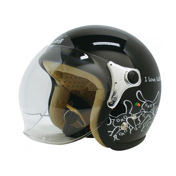 ダムトラックス(DAMMTRAX) カリーナ ヘルメット BLACK/RABBIT