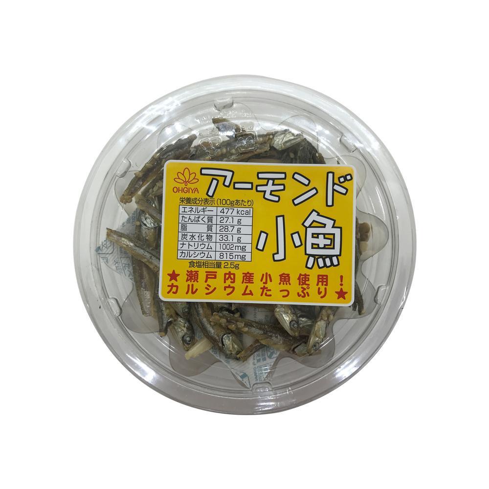 扇屋食品 アーモンド小魚(70g)×96個送料込!【代引・同梱・ラッピング不可】