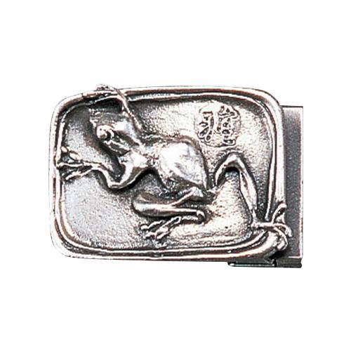 高岡銅器 銅製小物 名取川雅司作 バックル カエル 52-19