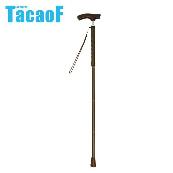 幸和製作所 テイコブ(TacaoF) 折りたたみ式伸縮ステッキ(首細) EON13 ブラウン【代引・同梱・ラッピング不可】