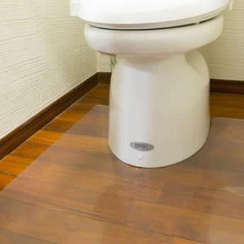 Achillesアキレストイレ用透明マット 1mm・80×125cm  送料込!【代引・同梱・ラッピング不可】