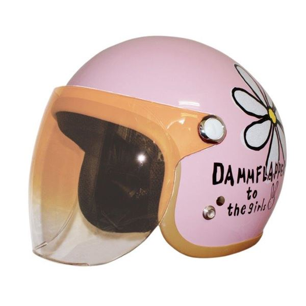 ダムトラックス(DAMMTRAX) ヘルメット フラワージェット PIN 送料無料!