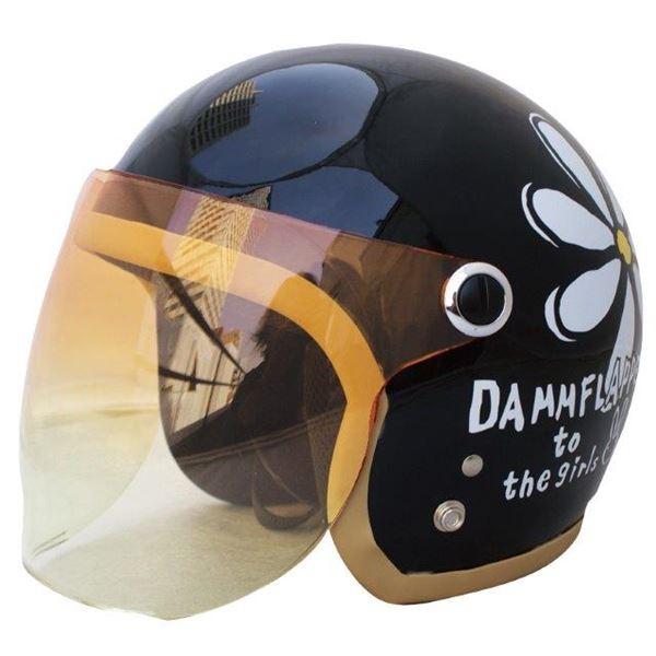 ダムトラックス(DAMMTRAX) ヘルメット フラワージェット P/ブラック 送料無料!