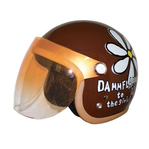 ダムトラックス(DAMMTRAX) ヘルメット フラワージェット P/BRWN 送料無料!
