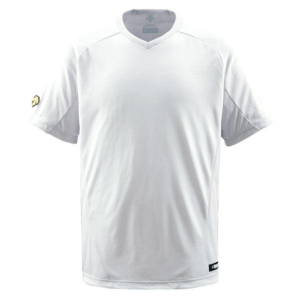 데산트(DESCENTE) 주니어 야구 셔츠(V넥) (야구) JDB202 S화이트 150