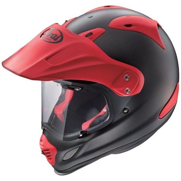 アライ(ARAI) オフロードヘルメット TOUR CROSS3 フラットブラック/レッド 57-58cm M 送料無料!