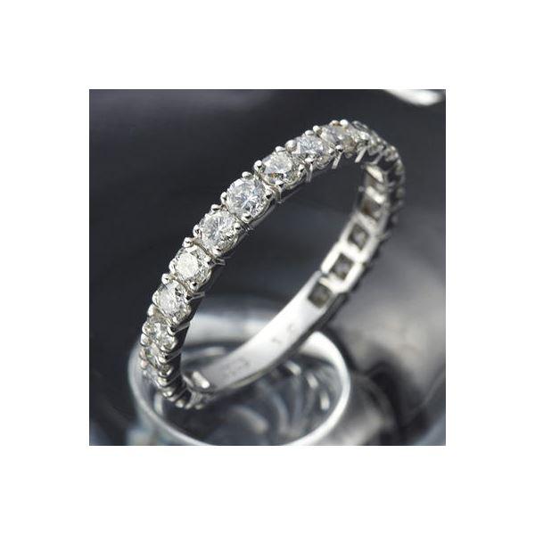 プラチナPt900 ダイヤリング 指輪 1ctエタニティリング 16号 (鑑別書付き) 送料無料!