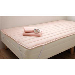 新・ショート丈脚付きマットレスベッド マットレスベッド ポケットコイルマットレスタイプ セミシングル ショート丈 脚22cm さくら