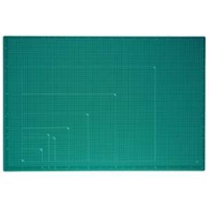 長時間の作業も快適な彩度をおさえたダークトーンカラーです プラス カッターマット A1 GR CS-A1 緑 送料込!
