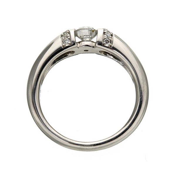 プラチナPt900 /0.28ctダイヤリング 指輪 9号 !