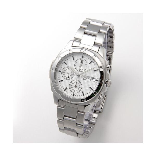 SEIKO(セイコー) 腕時計 クロノグラフ SND187P シルバー 送料無料!