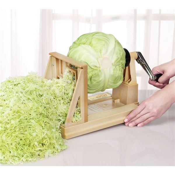 ベジタブルカッター/野菜カッター 【幅28cm】 重さ約1.22kg 日本製 ハンドル式 ステンレス 『ニューキャベック』【代引不可】 送料込!