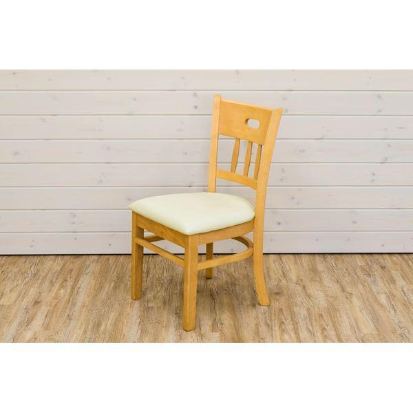 汚れに強くお手入れし易い座面 全国一律送料無料 シンプルな食卓椅子 ダイニングチェア リビングチェア 同色2脚セット ライトブラウン KALMIA 送料込 定番から日本未入荷 張地:合成皮革 完成品 代引不可 合皮 座面高:43cm