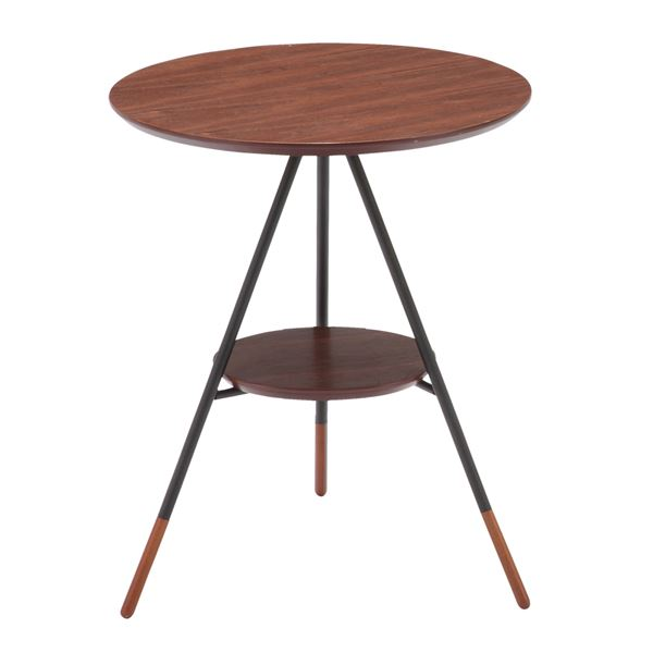 あずま工芸 サイドテーブル 幅41.5×高さ50cm ダークブラウン SST-250 送料込!