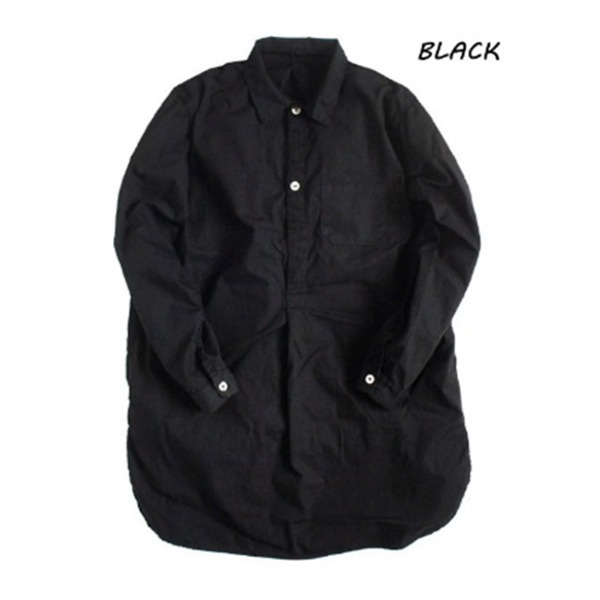 スウェーデン軍プルオーバースリーピングシャツ後染めレプリカ ブラック《36(レディースフリー相当》 送料込!