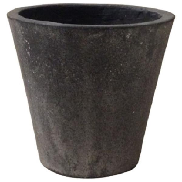 軽量コンクリート製 植木鉢/プランター 【ブラックウォッシュ 直径43cm】 底穴あり 『フォリオ ソリッド』 送料込!