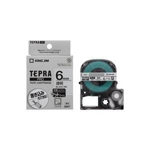 (業務用50セット) キングジム テプラPROテープマット/ラベルライター用テープ 【幅:6mm】 透明/黒文字 SB6T 送料込!