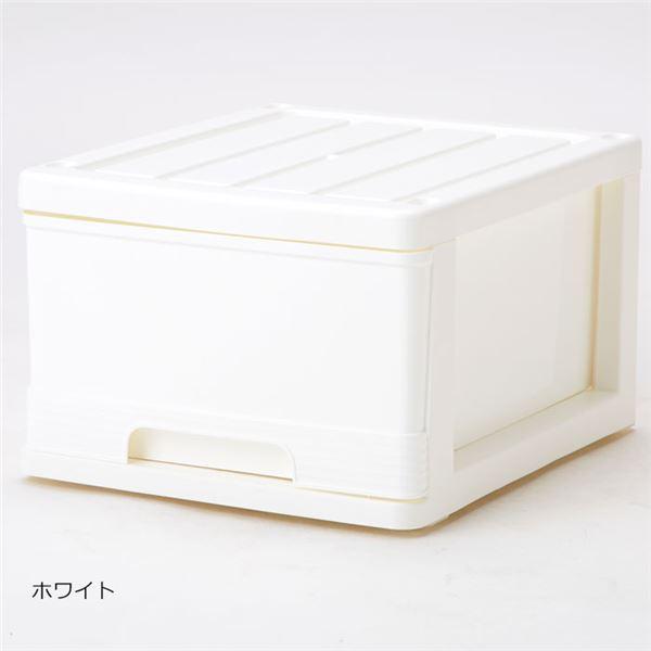 深型 収納ケース/キッチン収納 【4個組 ホワイト】 幅34.5cm スタッキング可 プラスチック 日本製 送料込!