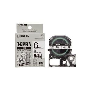 (業務用30セット) キングジム テプラ PROテープ/ラベルライター用テープ 【耐熱ラベル/幅:6mm】 長さ2m SN6K 送料込!