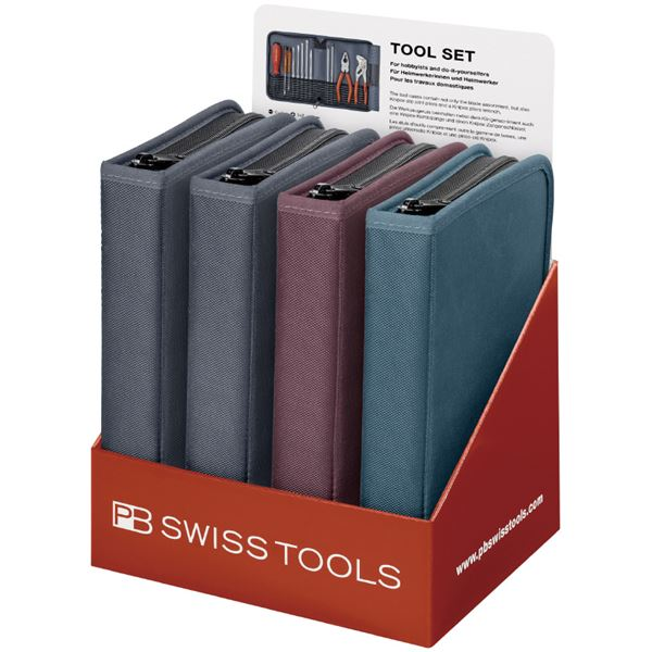 PB SWISS TOOLS 8219POS プライヤー付差替式ドライバーセットディスプレイ 送料無料!