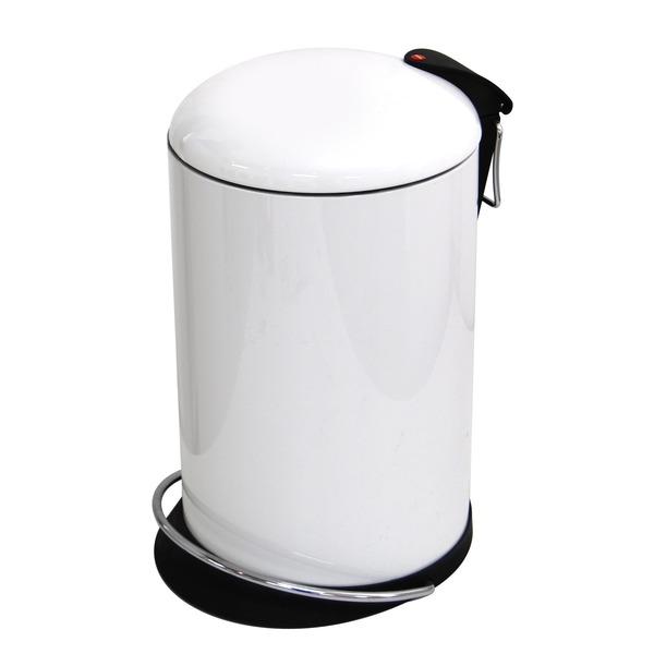 Hailo(ハイロ) ペダルビン トレントトップデザイン ホワイト 16L (ゴミ箱・ダストBOX)60057 送料込!